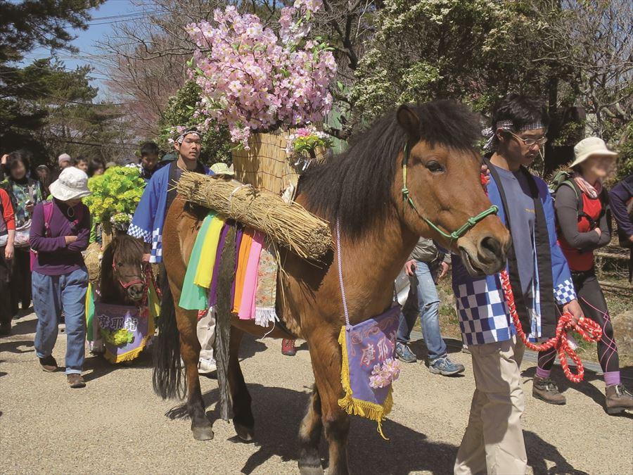 摩耶詣祭 馬